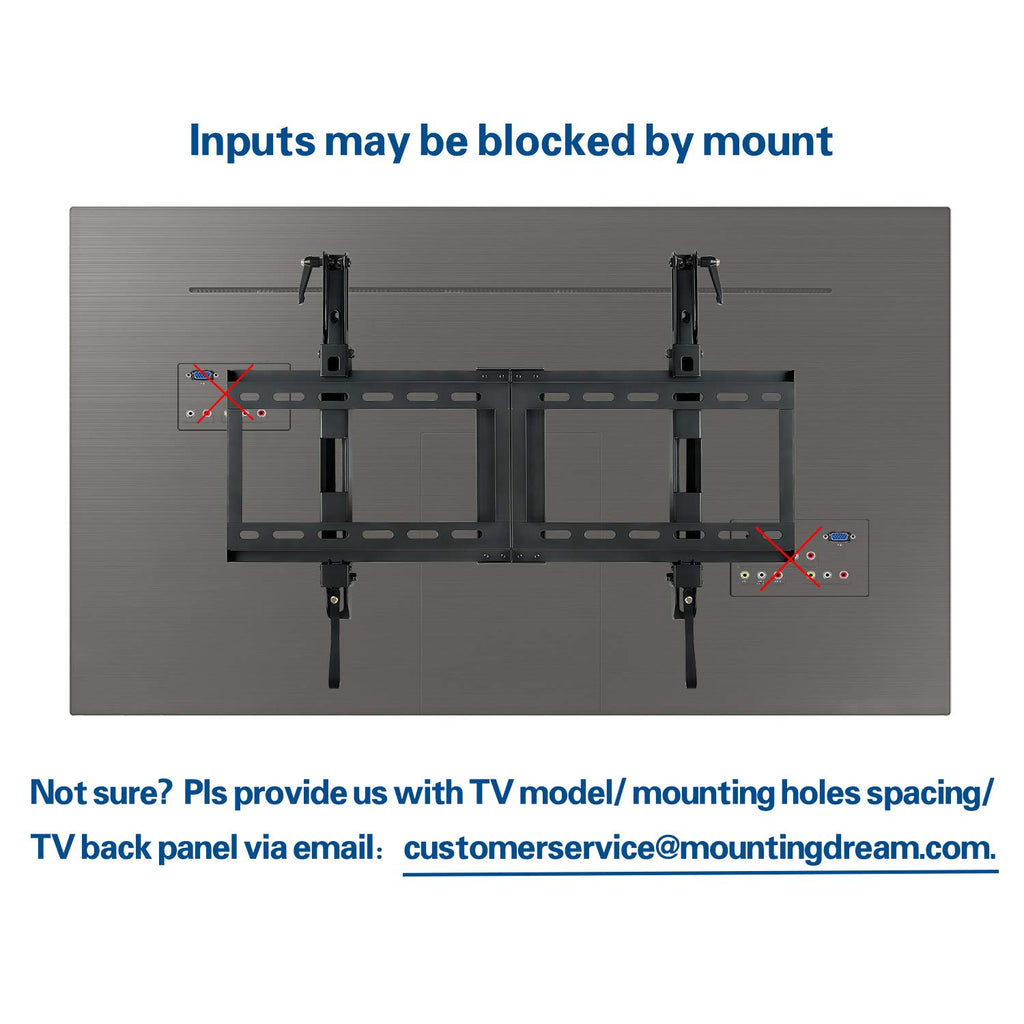 "Renewed Tilt TV Bracket/Hanger for 42-70"" TVs with Kits included up to 50% off MD2165-LK"