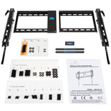 Tilting TV bracket with screws and bolts