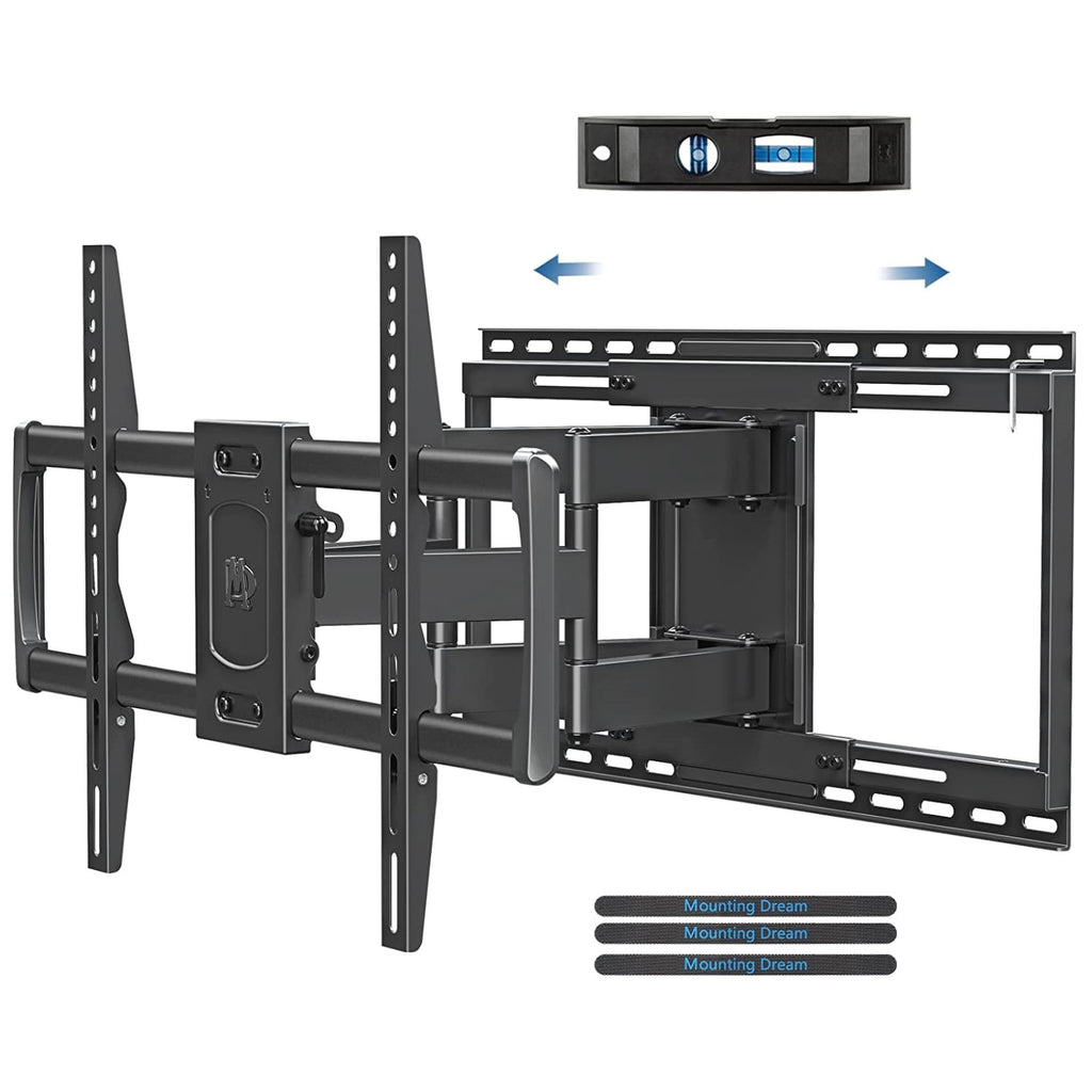 65 inch tv wall mount with 19'' extension and 3.4'' flush