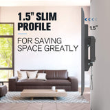 slim low profile creates a sleek and clean look