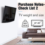 compatile with flat screen tv up to 70 inches and loads up to 132 lbs