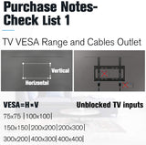 VESA 200x200 300x300 400x400 Tilt TV wall mount