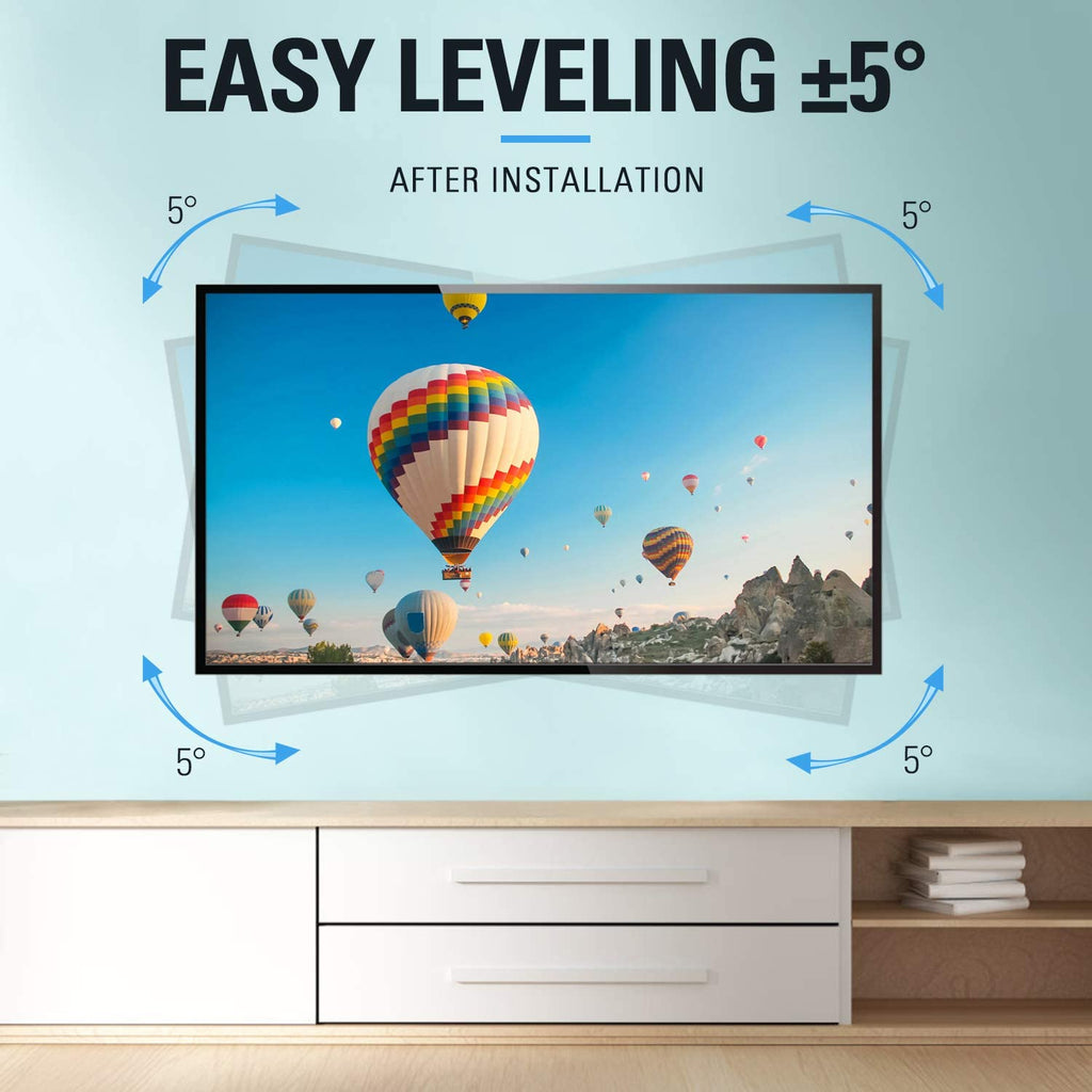 65 inch TV wall mount with easy TV leveling post installation