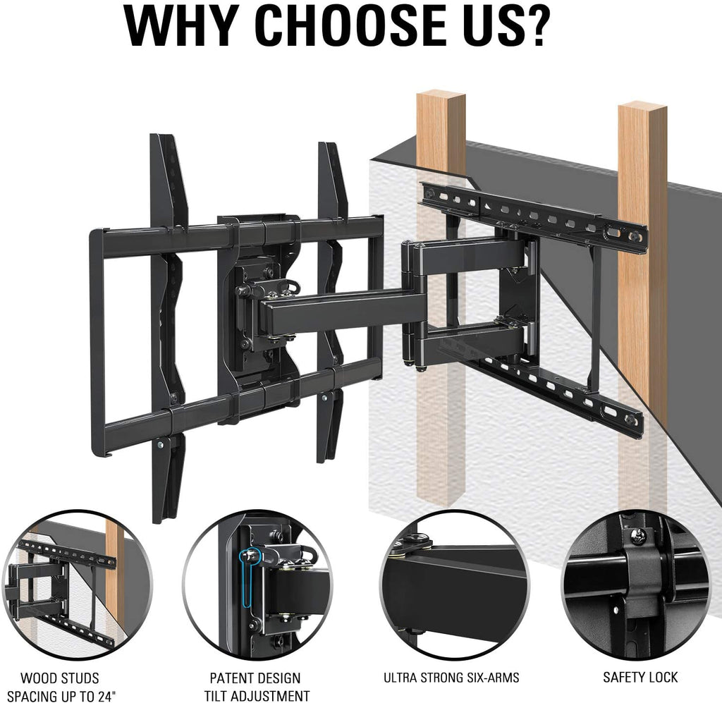 heavy duty tv wall mount to hold flat screen TVs up to 70''