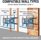 mounting tv on brick/concrete wall or 24 inch wood studs