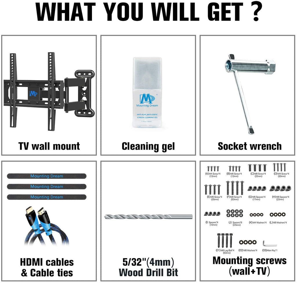anything you need to hang up a tv mount