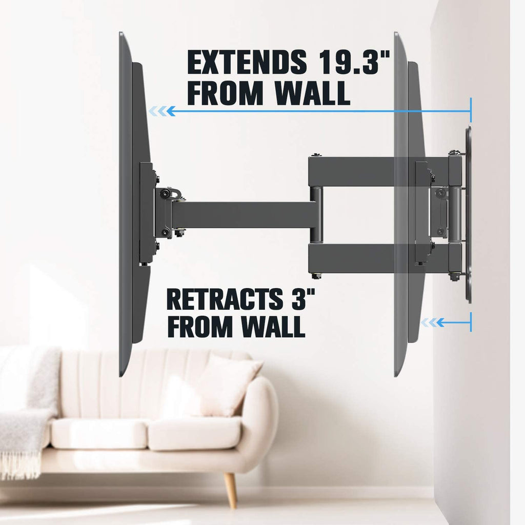extendable tv mount with 19.3'' from the wall and 3'' back to the wall