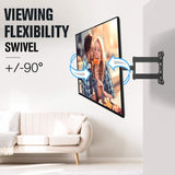 90° swivel tv wall mount for a flexible view