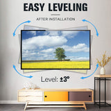 full motion tv mount with 3° rotation to level the tv after installation