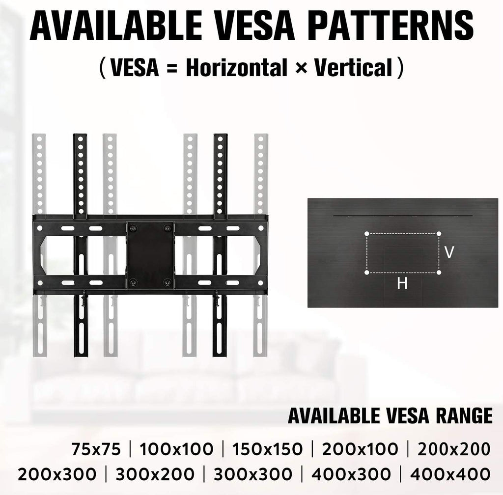 VESA 200x200 300x300 400x400 TV wall mount