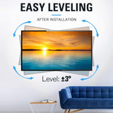 easy tv leveling post installation
