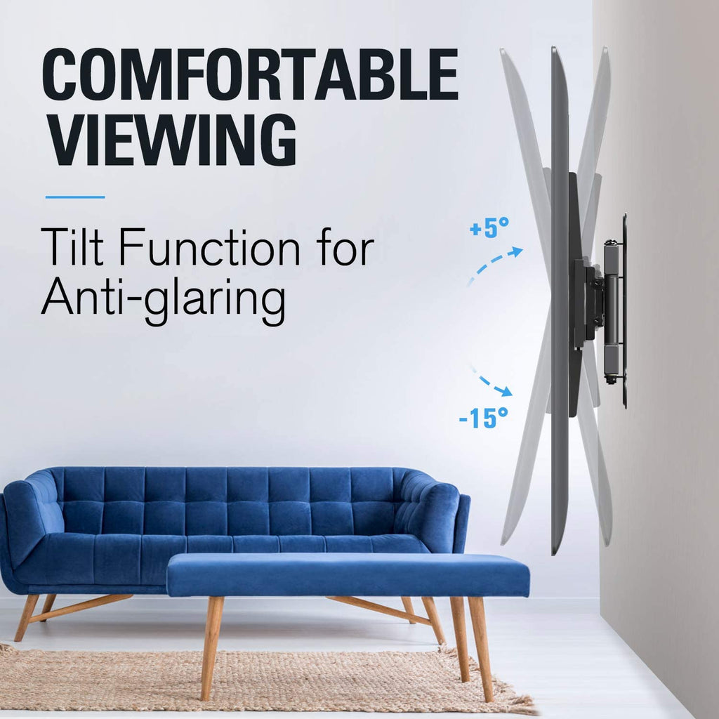 5 or 15 degree tilt ro reduce glare