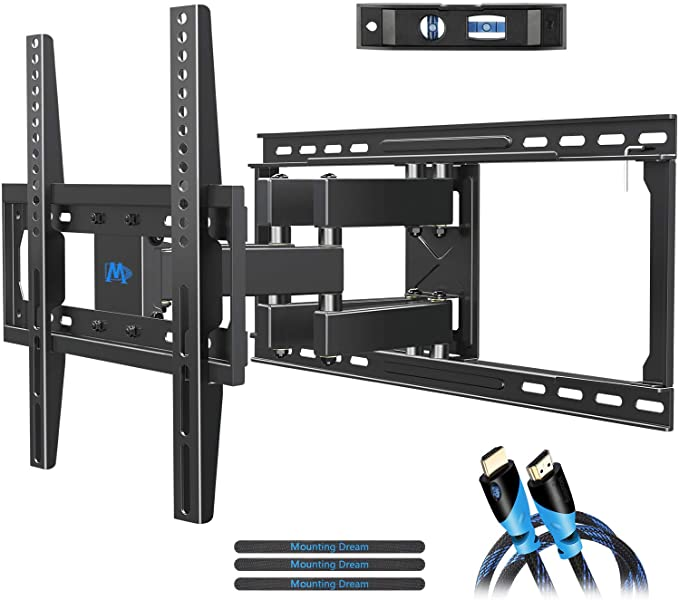"Products TV Mount for 32-55"" TV, Full Motion TV Mounting Bracket for 39/49"" Flat Screen TVs on 24"" wood Studs MD2380-24"