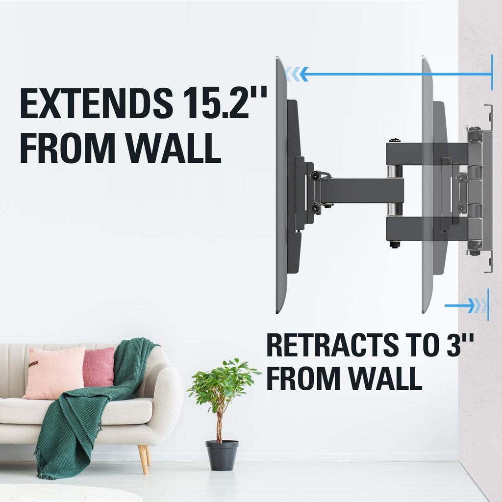 55 inch TV wall mount extends up to 15.2''