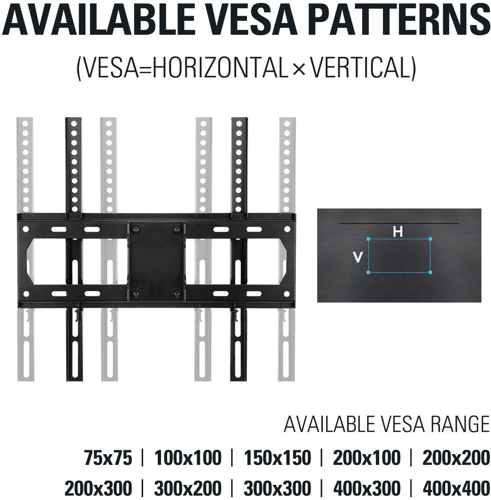VESA mount fits 200 × 200 300 × 300  400 × 400
