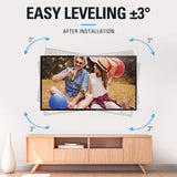 TV leveling after installation
