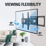 swivel 55 TV wall mount for Samsung, TCL, LG, Sony, Vizio Tvs