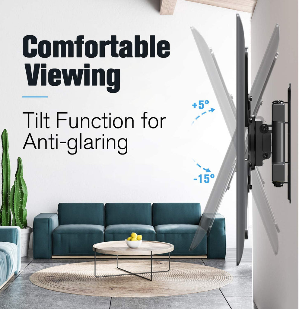 10 degrees of tilt to reduce glare for the best view