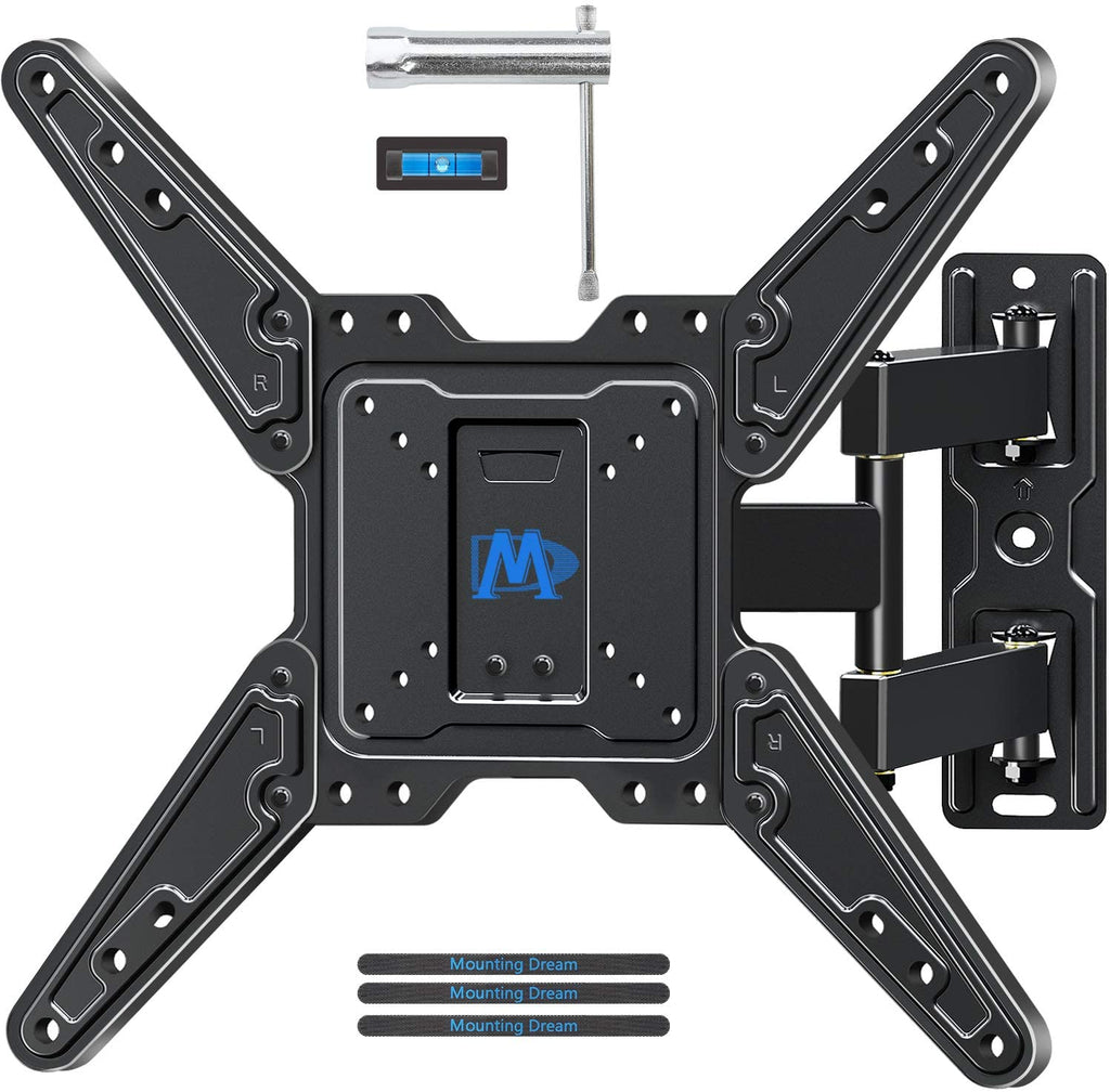 "Renewed Full Motion TV Wall Mount for 26""-55"" TVs with All Kits Included up to 50% off MD2413-MX"