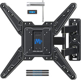 "Full Motion TV Wall Mount for 26""-55"" TVs up to 77 lbs, Strong Articulating TV Bracket MD2413-MX"