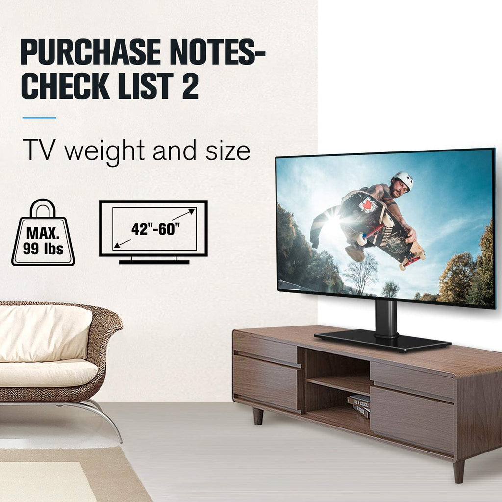universal tv stand for 42-60 inch tvs loading up to 99 lbs