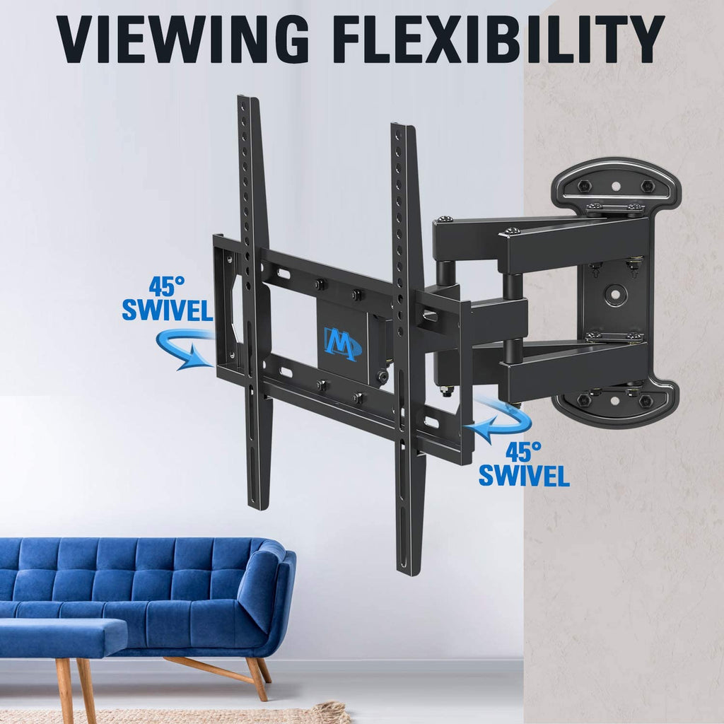 45 degree swivel tv wall mount for flexible viewing