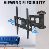 "TV Wall Mount Full Motion Swivel TV Mounts for 32-55"" TV, 32/49 inch LG, Samsung, Vizio, Sony, Philips and More Flat Screen TV Mounting Bracket Mounting Dream MD2379"