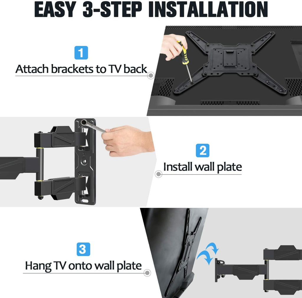 single arm wall mount with easy installation