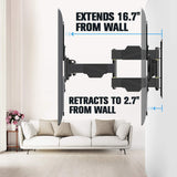 flush tv wall mount from 2.7'' to 16.7''