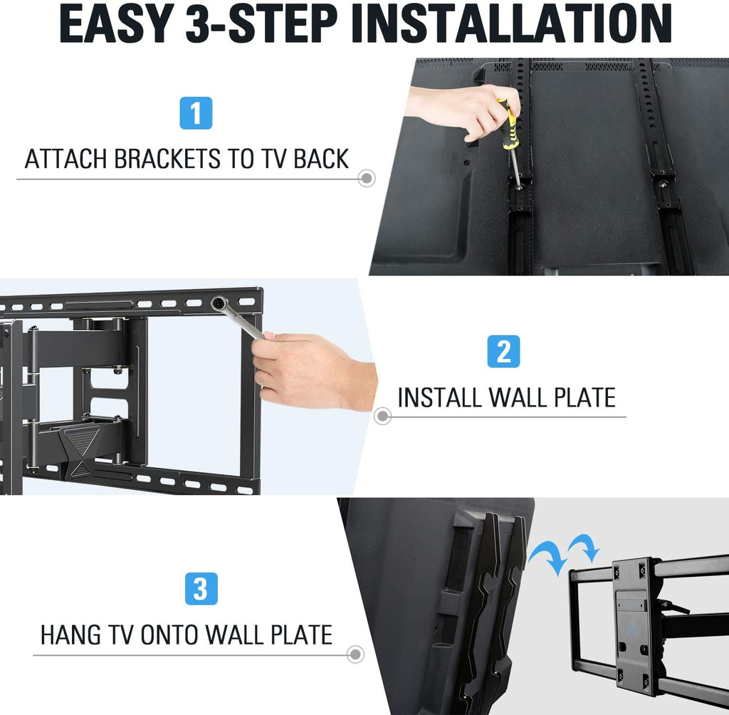"Mounting Dream Swivel TV Wall Mount for 42-84"" TVs with VESA up to 800x400mm"