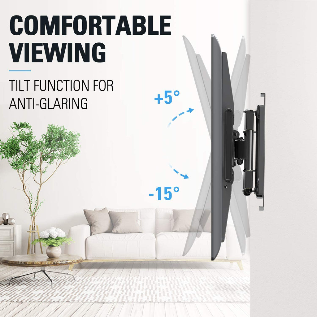 Centering Sliding TV Mount for 42-70 Inch TVs, Swivel Full Motion TV Wall Mount Bracket MD2618
