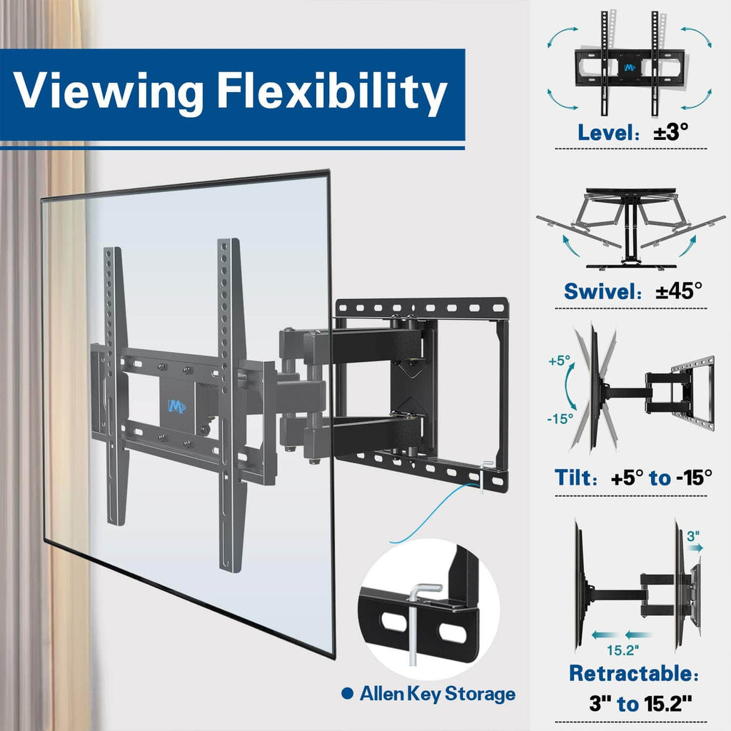 "Renewed TV Wall Mount for 32-55"" with All Kits Included 50% Off MD2380"