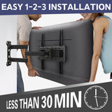 "Renewed Full Motion TV Wall Mount for 32-55"" TVs with All Kits Included at 50% off MD2377"