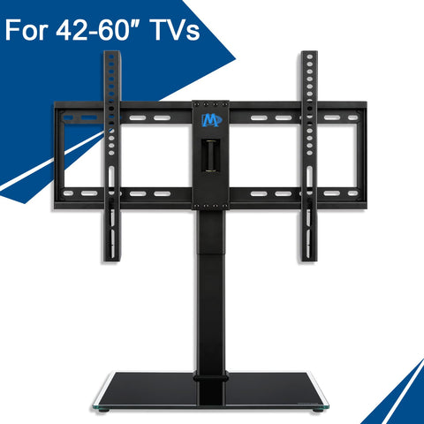 "Universal TV Stand for 42-60"" TVs, 4 Height Adjustable with Anti-tip Strap Mounting Dream MD5109-KD"