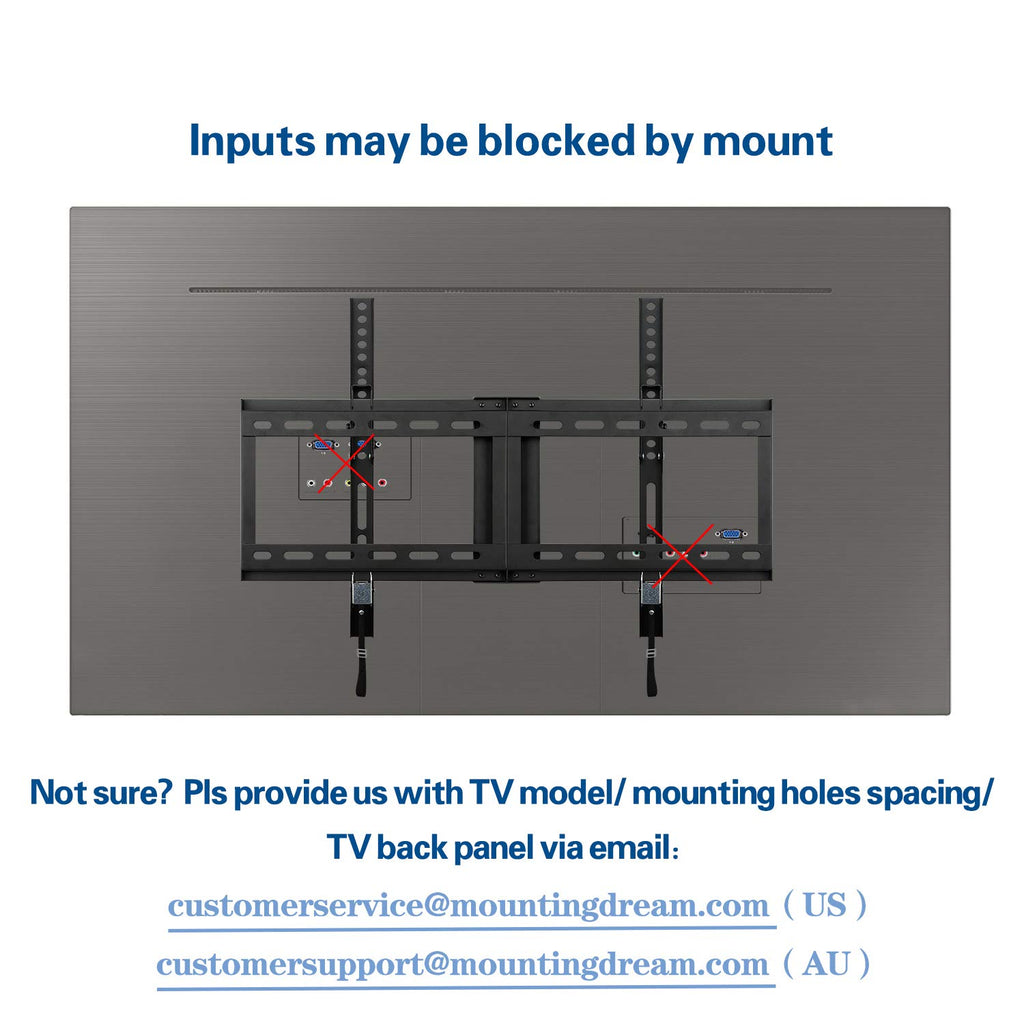 Mounting Dream Tilt TV wall mount for 37-70 inch Sony, LG, Sharp, Samsung, Toshiba TVs-1