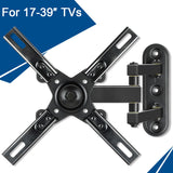 Mounting Dream full motion TV mount for 17-39 inch Sony, LG, Sumsung, TCL, Sharp, Tashiba TVs