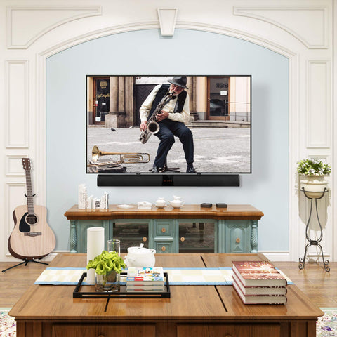 hang a soundbar below a flat screen TV