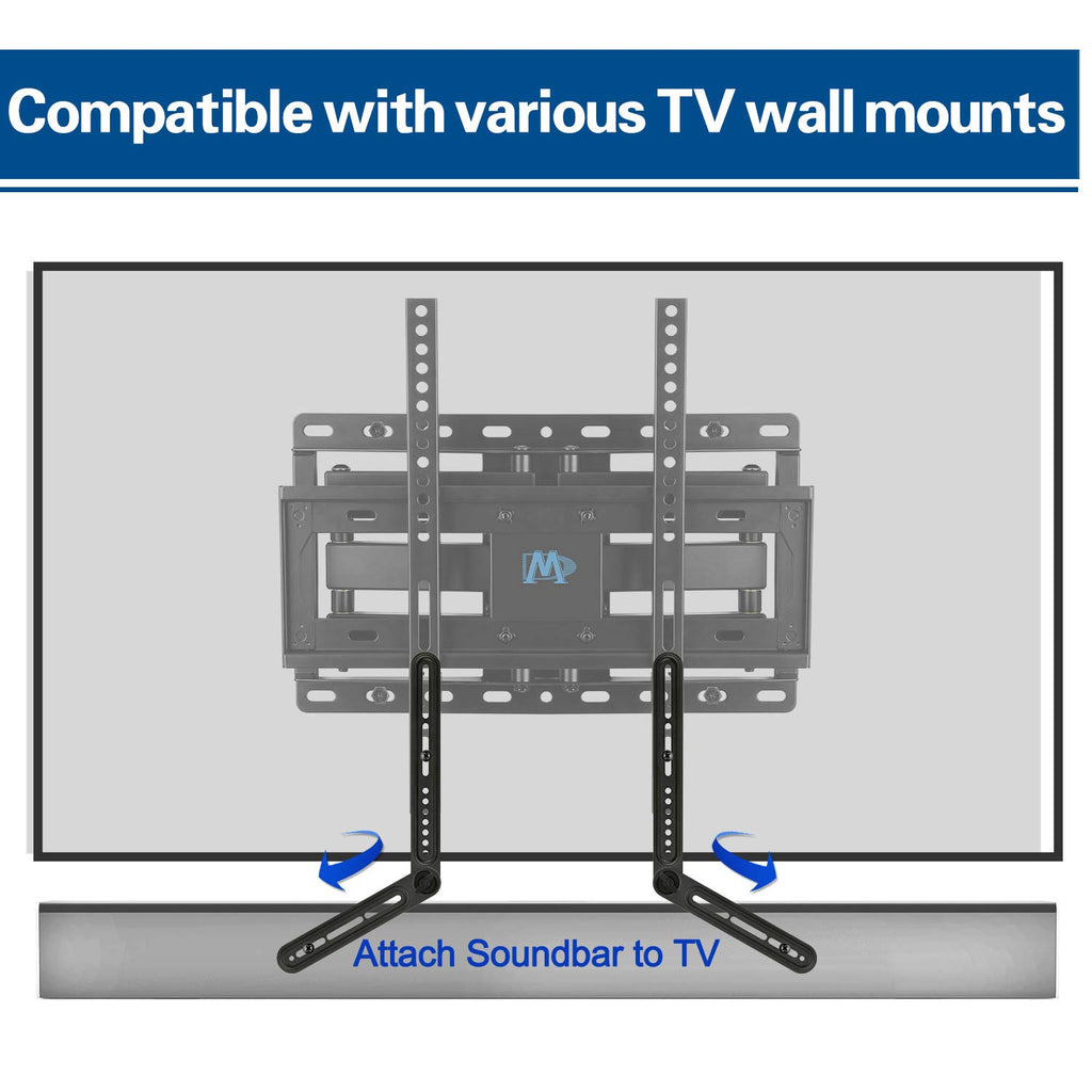 attach to the tv wall mount to mount a soundbar