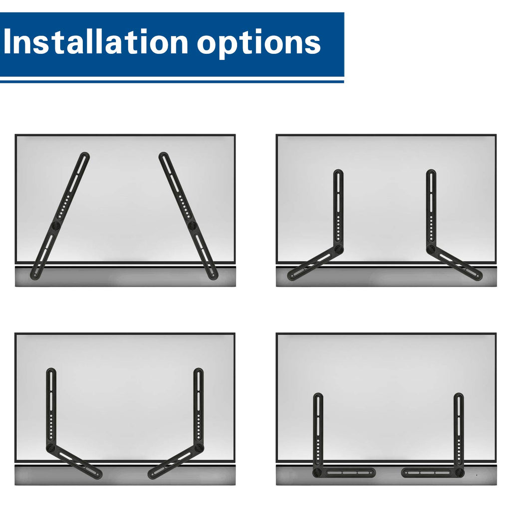 Soundbar mount to tv with multiple installation options