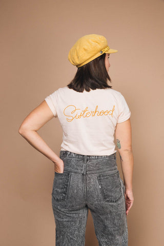 Women for Women + SISTERHOOD fitted crewneck tee