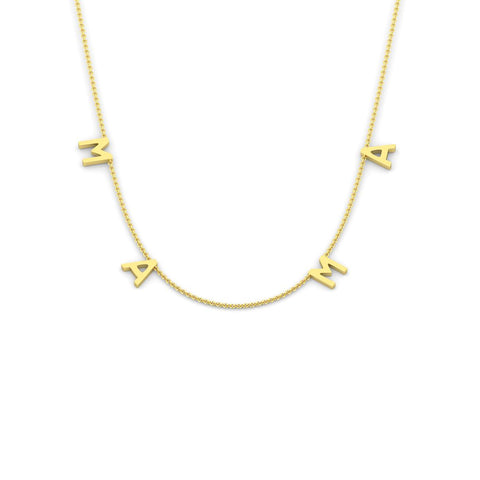 MAMA Necklace (9crt gold)