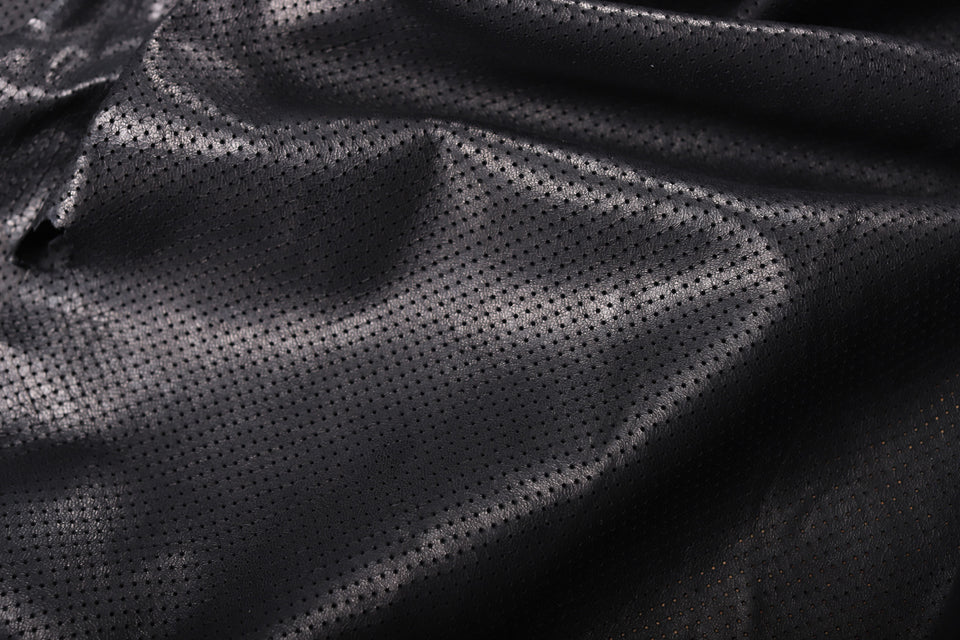 PERFORATED LAMB LEATHER BLACK