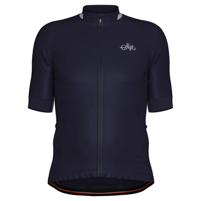 Sigr 'Blåklocka' Dark Blue Cycling Jersey for Men