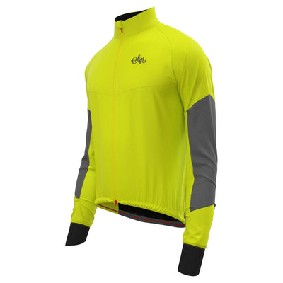 Sigr 'Östkusten' Ultraviz Yellow Road Cycling Rain Jacket for Men