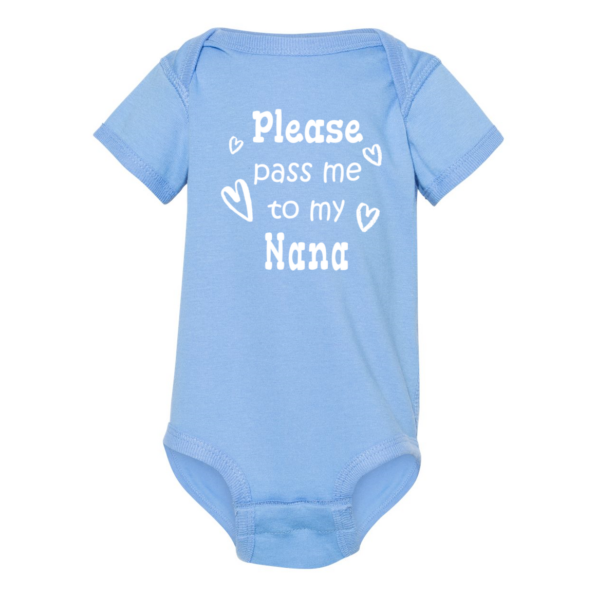 Pass Me To Nana Grandmother Baby Bodysuit