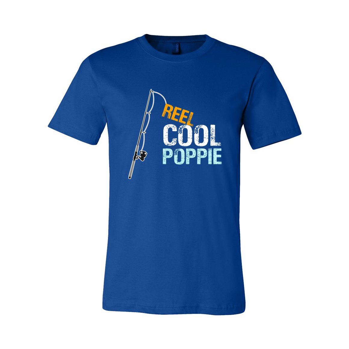 Reel Cool Poppie Grandpa Grandfather Tshirt