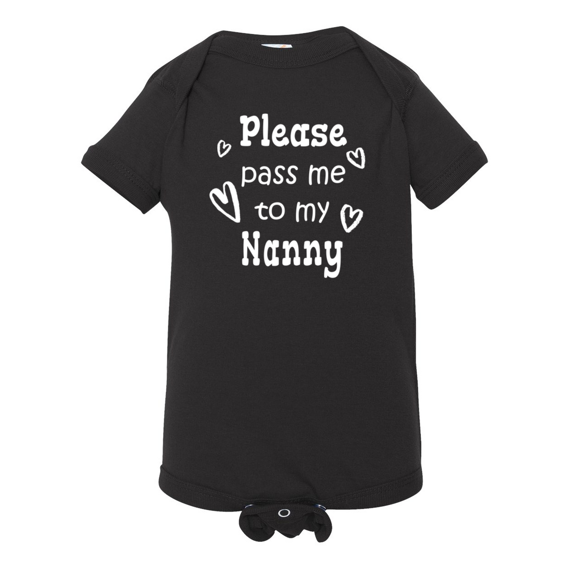 Pass Me To Nanny Grandmother Baby Bodysuit