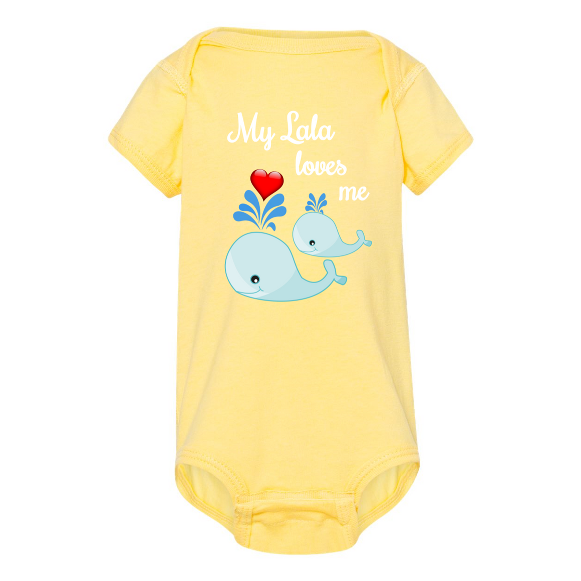 Lala Loves Me Whale Grandmother Baby Bodysuit