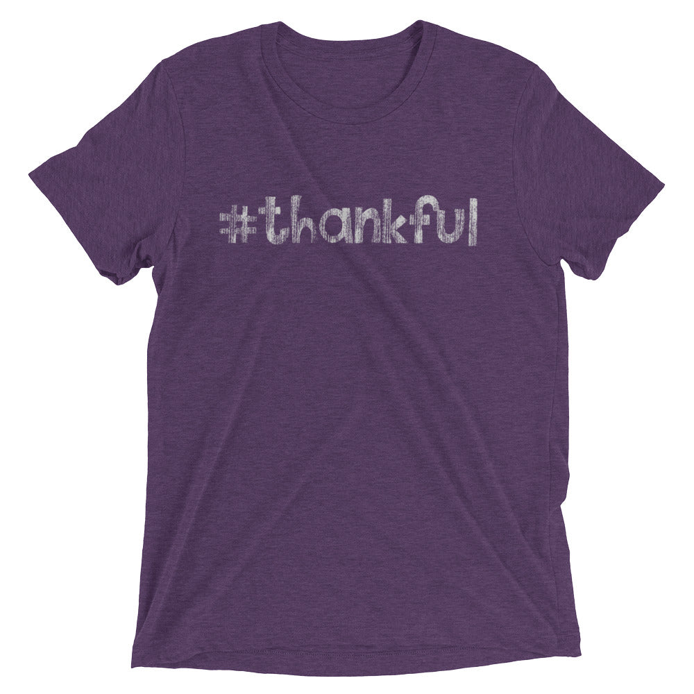 Hashtag # Thankful T-shirt - Great Christian Faith Inspirational Religious Gifts for Men and Women