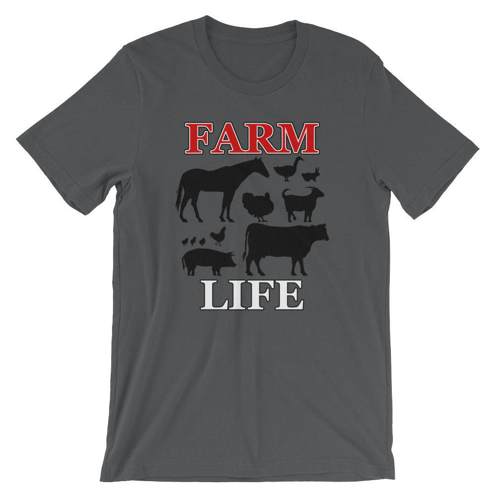 Farm Life Funny Horse Goat Cow Pig Duck Chicken T-Shirt Cute Farm Animals Farmer Farming Gifts Tee Shirts